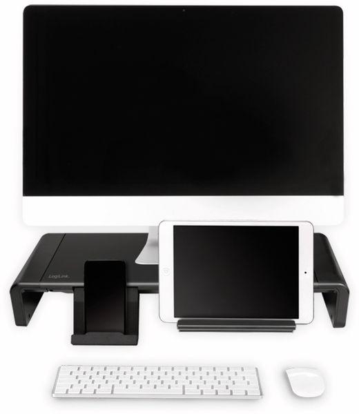 Monitorerhöhung LOGILINK BP0140, 630 mm, klappbar - Produktbild 3