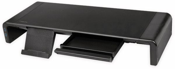 Monitorerhöhung LOGILINK BP0141, 630 mm, klappbar, 3-port Hub - Produktbild 3
