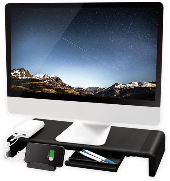 Monitorerhöhung LOGILINK BP0141, 630 mm, klappbar, 3-port Hub - Produktbild 4