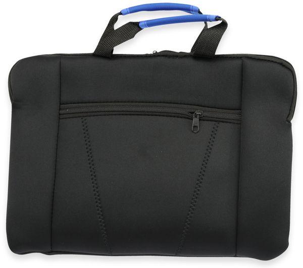 Neopren Laptop-Tasche 37x27 cm, Griffe blau
