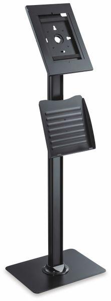Tablet-Halterung PUREMOUNTS PDS-5920, mit Standfuß und Prospekthalter, schwarz