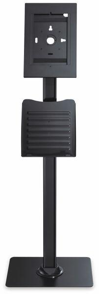 Tablet-Halterung PUREMOUNTS PDS-5920, mit Standfuß und Prospekthalter, schwarz - Produktbild 3