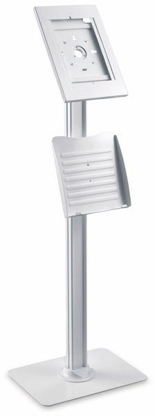 Tablet-Halterung PUREMOUNTS PDS-5921, mit Standfuß und Prospekthalter, weiß