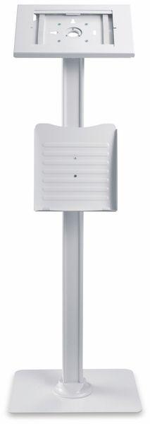 Tablet-Halterung PUREMOUNTS PDS-5921, mit Standfuß und Prospekthalter, weiß - Produktbild 3