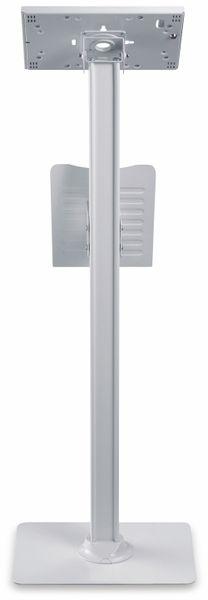 Tablet-Halterung PUREMOUNTS PDS-5921, mit Standfuß und Prospekthalter, weiß - Produktbild 4
