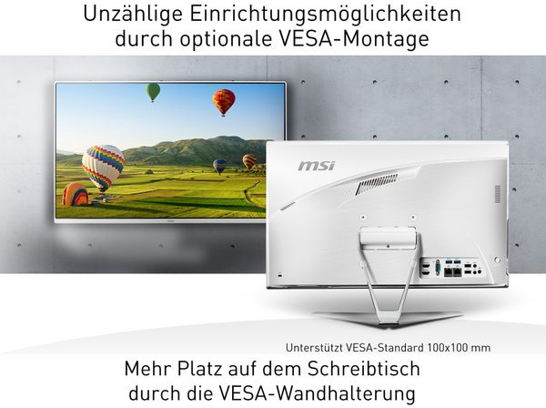 AIO PC MSI Pro 22XT 10M-018DE, Intel i5, 8GB RAM, Touch, Win10Pro - Produktbild 10