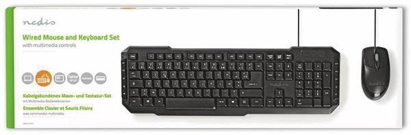 USB-Tastatur- und Maus-Set NEDIS, schwarz - Produktbild 2