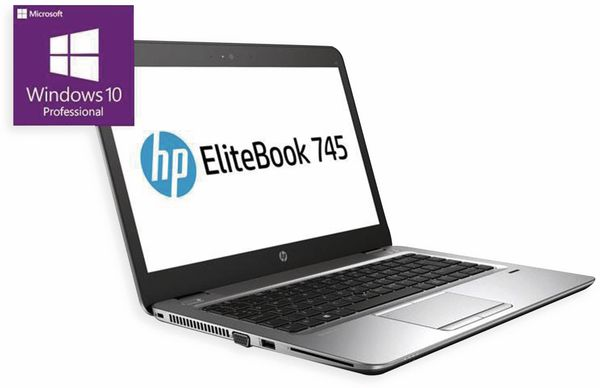 "Notebook HP EliteBook 745 G4, 14"", 256 GB SSD, 8 GB RAM, Win10P, Refurb."