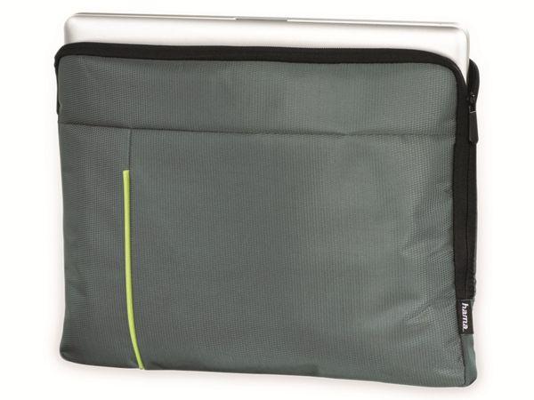 "Notebook-Sleeve HAMA Kapstadt II, 15,6"", grau/grün - Produktbild 2"