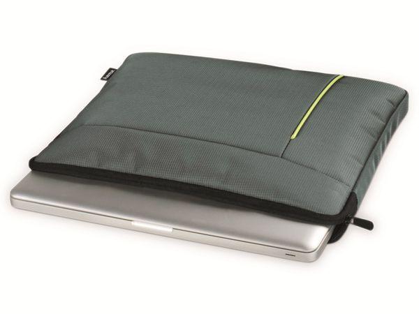 "Notebook-Sleeve HAMA Kapstadt II, 15,6"", grau/grün - Produktbild 3"