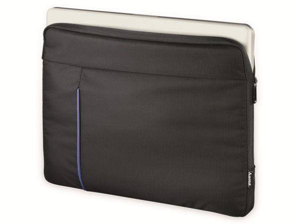 "Notebook-Sleeve HAMA Kapstadt II, 14,1"", schwarz/blau - Produktbild 2"