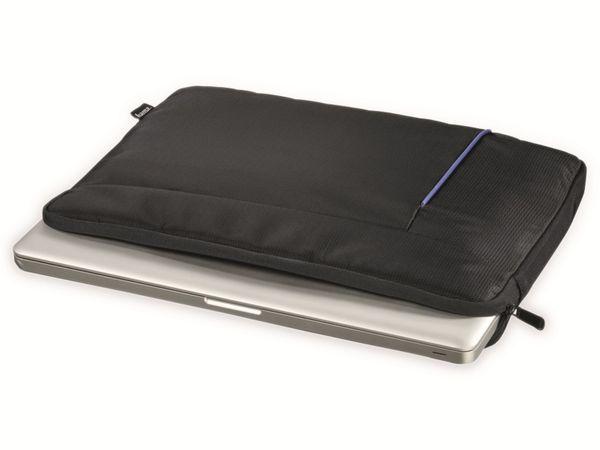 "Notebook-Sleeve HAMA Kapstadt II, 14,1"", schwarz/blau - Produktbild 3"