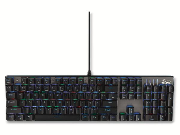 Gaming-Tastatur MEDIARANGE MRGS101, 104 Keys, 14 Color-Modes