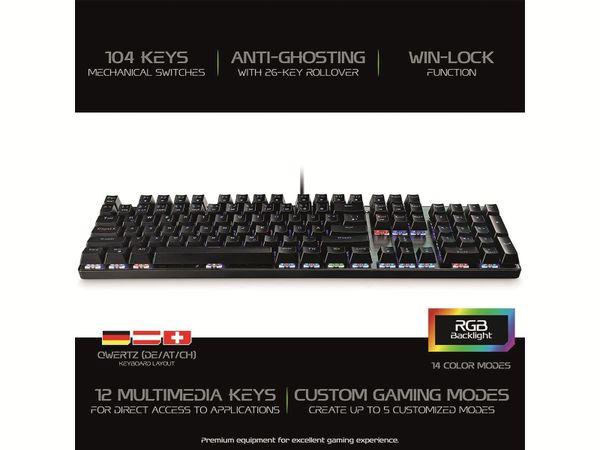 Gaming-Tastatur MEDIARANGE MRGS101, 104 Keys, 14 Color-Modes - Produktbild 2