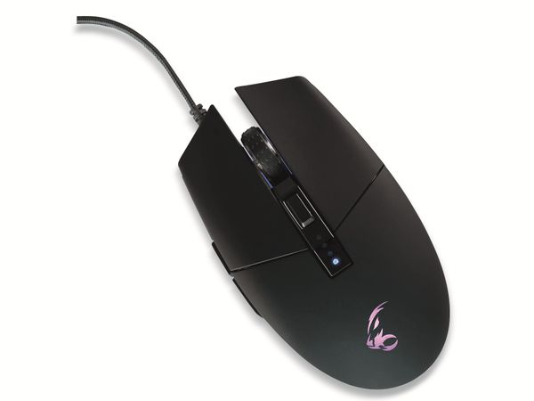 Gaming-Maus MEDIARANGE MRGS202, 6 Tasten, RGB Backlight