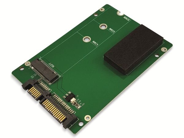 "Festplattenadapter LC-POWER, LC-ADA-M2-NB-SATA, 2,5"" zu M.2 - Produktbild 2"