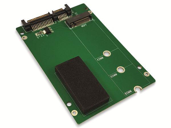 "Festplattenadapter LC-POWER, LC-ADA-M2-NB-SATA, 2,5"" zu M.2 - Produktbild 3"