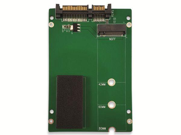 "Festplattenadapter LC-POWER, LC-ADA-M2-NB-SATA, 2,5"" zu M.2 - Produktbild 4"
