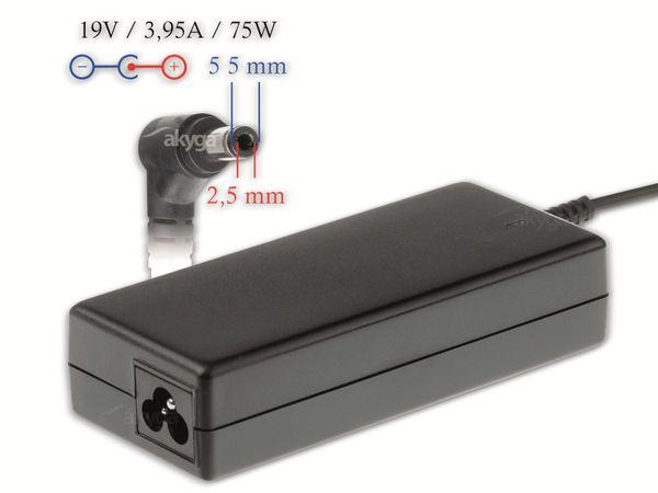 Notebook-Netzteil AKYGA AK-ND-02, 75 W, 19 V, 3,95 A