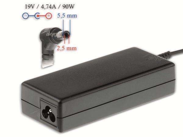 Notebook-Netzteil AKYGA AK-ND-10, 90 W, 19 V, 4,74 A
