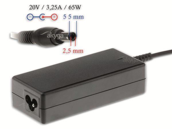 Notebook-Netzteil AKYGA AK-ND-17, 65 W, 20 V, 3,25 A