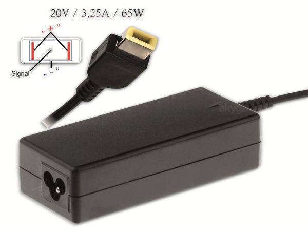 Notebook-Netzteil AKYGA AK-ND-24, 65 W, 20 V, 3,25 A