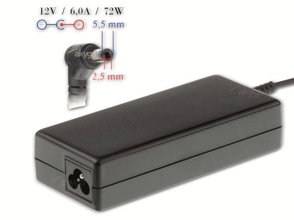 Notebook-Netzteil AKYGA AK-ND-28, 72 W, 12 V, 6,0 A