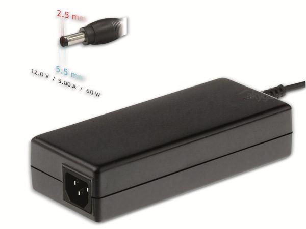 Notebook-Netzteil AKYGA AK-ND-30, 60 W, 12 V, 5 A