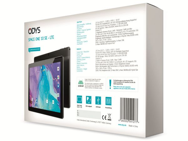 "Tablet ODYS Space One 10 SE, 10"", LTE, 64 GB, Andorid 11 - Produktbild 8"