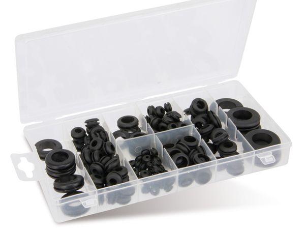 Sortiment Gummi-Durchgangstüllen, 180-teilig - Produktbild 1