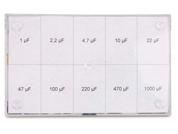 Sortiment Elkos, 1...1000 µF, 50 V-, 70-teilig - Produktbild 3