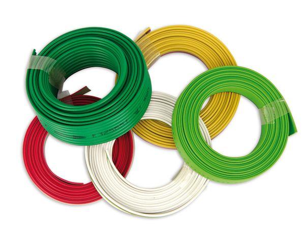 Sortiment Flachbandleitungen, 5x 2 m