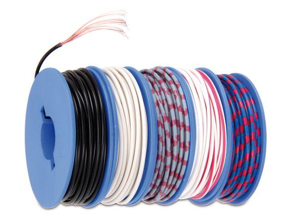 Litzen-Sortiment auf Spulen, 0,5 mm², 5x 7 m