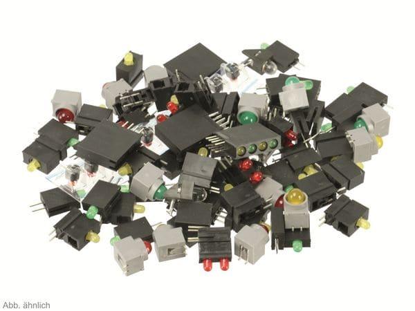 Sortiment gesockelte LEDs, 100 LEDs