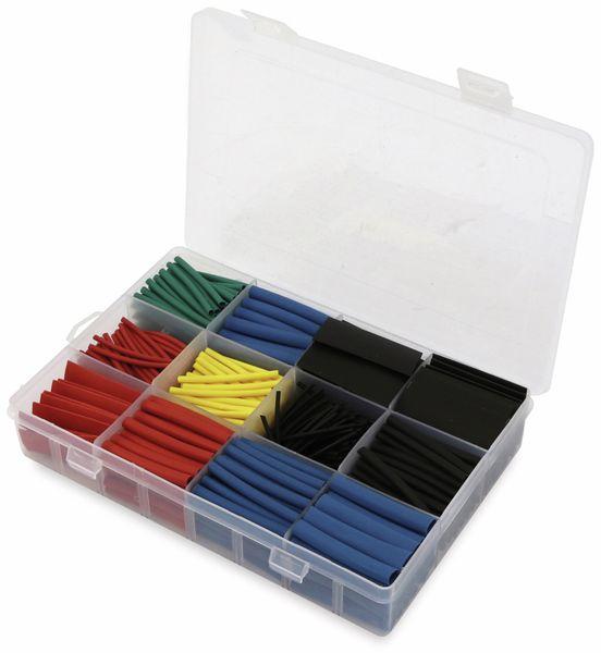 Schrumpfschlauch-Sortiment, 560-teilig in Plastikbox, Schrumpfrate 2:1, bunt