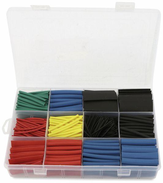 Schrumpfschlauch-Sortiment, 560-teilig in Plastikbox, Schrumpfrate 2:1, bunt - Produktbild 2