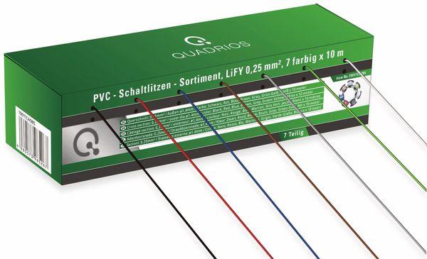 QUADRIOS, 19011CA085, PVC-Schaltlitzen Sortiment LiFY – 0,25 mm², 7-teilig, je 10 m