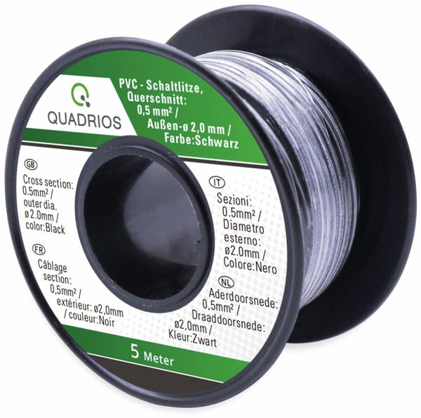 QUADRIOS, 19011CA087, PVC-Schaltlitzen Sortiment LiFY – 0,5 mm², 7-teilig, je 5 m - Produktbild 3