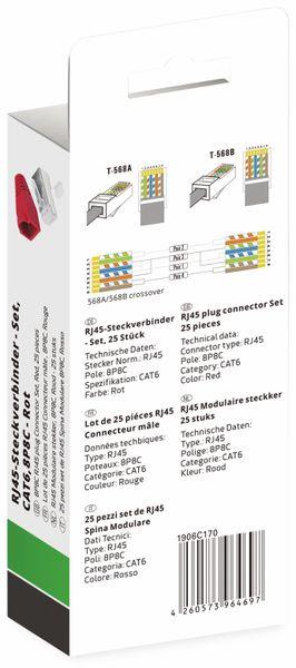 QUADRIOS, 1906C170, RJ-45 Steckverbinder Set-CAT 6, Polzahl 8P8C, Rot - geschirmt, 25 St. - Produktbild 3