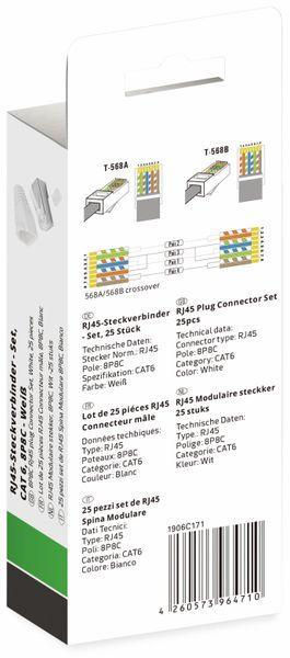 QUADRIOS, 1906C171, RJ-45 Steckverbinder Set-CAT 6, Polzahl 8P8C, Weiß - geschirmt, 25 St. - Produktbild 3