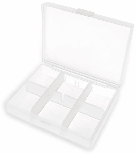 Sortimentsbox, 84x63x20, 6 Fächer, PP, transparent