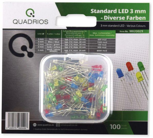 QUADRIOS, 1802O029, Standard LED-SET 3 mm, Diffus, Klar, 100 ST