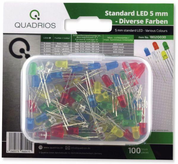 QUADRIOS, 1802O030, Standard LED-SET 5 mm, Diffus, Klar, 100 ST