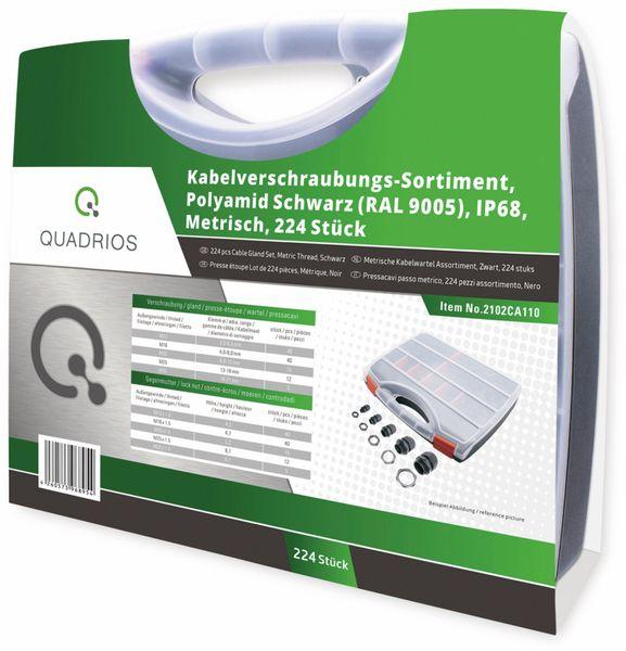 QUADRIOS, 2102CA110, Kabelverschraubungs-Sortiment, Schwarz - Metrisch, 224 Stück - Produktbild 3