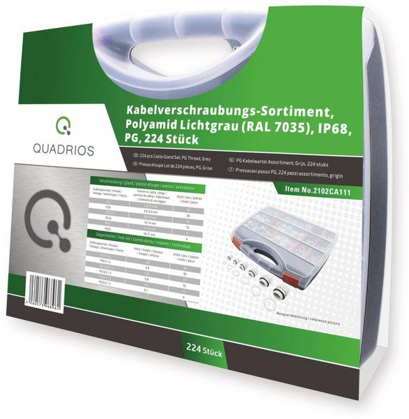QUADRIOS, 2102CA111, Kabelverschraubungs-Sortiment, Grau - PG, 224 Stück - Produktbild 3