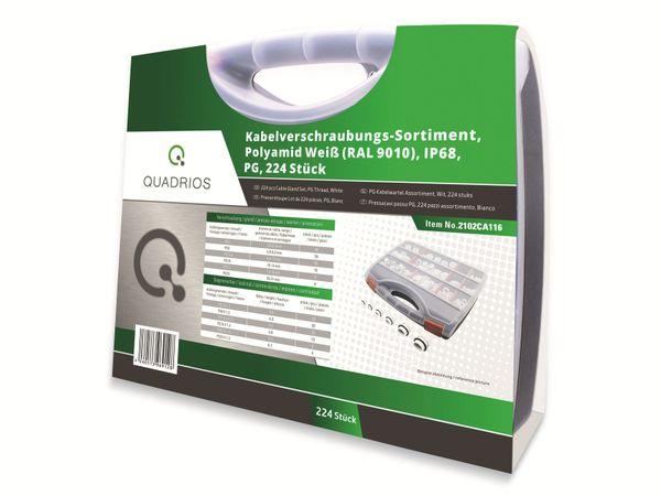 QUADRIOS, 2102CA116, Kabelverschraubungs-Sortiment, Weiss - PG, 224 Stück - Produktbild 4