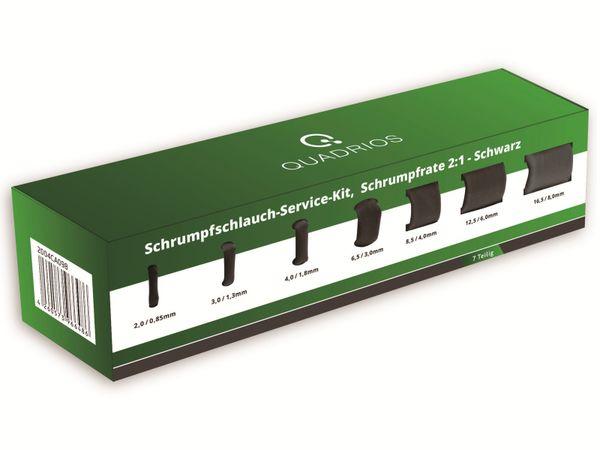QUADRIOS, 2004CA098, Schrumpfschlauch-Service Kit, 2:1, Schwarz, 7 teilig