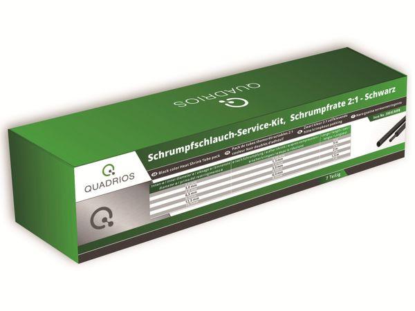 QUADRIOS, 2004CA098, Schrumpfschlauch-Service Kit, 2:1, Schwarz, 7 teilig - Produktbild 2