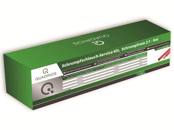 QUADRIOS, 2004CA100, Schrumpfschlauch-Service Kit, 2:1, Rot, 7 teilig - Produktbild 2