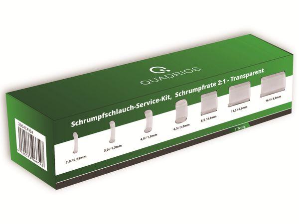 QUADRIOS, 2004CA104, Schrumpfschlauch-Service Kit, 2:1, Transparent, 7 teilig